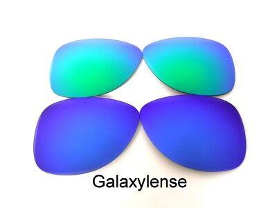 Galaxis Ersatzgläser für Oakley Crosshair S Sonnenbrille Blau & Grün gebraucht kaufen  Versand nach Germany