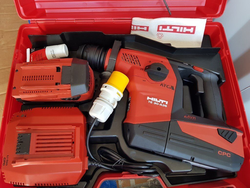 hilti te 30 a36 combi hammer drill atc avr with two of 6. Black Bedroom Furniture Sets. Home Design Ideas