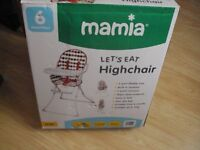 BRAND NEW MAMIA HIGH CHAIR £20