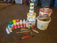 Job lot of Sheep marker spray . paint for rams chest and orph paste etc