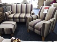 Neww next sofa accent chair poufee