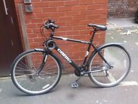 Hybrid Mountain Bike for sale with lock - 2nd hand, great condition, recently serviced