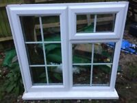 uPVC Double Glazed casement window with Georgian bars