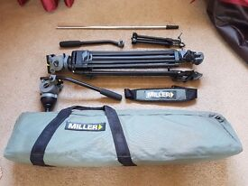 Miller DS-10 Tripod and accessories