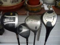 ASSORTED WOODS AND PUTTERS
