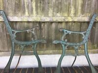 Cast Iron Garden Bench Ends / 7 Matching Sets Available- DELIVERY/COLLECTION WIGAN