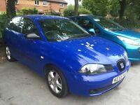 2005 SEAT IBIZA 1.2 12v BLUE 3 DOOR HATCH PX WELCOME