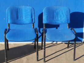 Blue chairs x set of 2 (Delivery)