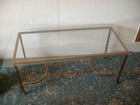Glass Coffee Table with Metal Base ID 109/8/18