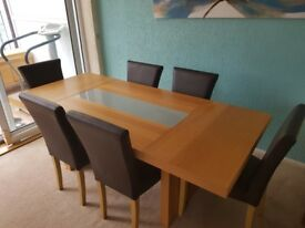 6 seat large dining room table