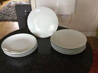 Porcelain White Dinner Plates