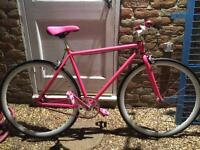 Urban culture pink fixie bike