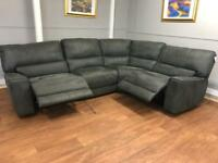 Brand new ex display Harvey's power recliner corner sofa