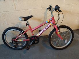 Girls Raleigh Bike. Perfect condition, only used twice. Suitable for age 6 and above.
