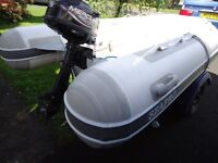 fishing boat Rib SEAPRO for sale with 5HP engine 4 stock