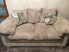 Two piece sofa from DFS originally