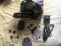 Canon EOS 450d with kit lens (18-55mm EFS) with box and SD cards
