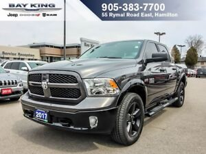 2017 Ram 1500 OUTDOORSMAN, CREW CAB, 4X4, BACKUP CAM, RMT START