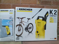 'KARCHER K2 PRESSURE WASHER and WV2 Window Vac BRAND NEW IN BOX