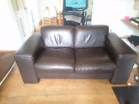 Two person leather sofa (AMAZING VALUE FOR MONEY!!)