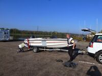 SPEEDBOAT. SHAKESPEARE SIGMA XS 480 (16ft) Marina 80HP ELPT. TRAILER. COVER ETC - all ready to go