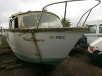 20 foot dawncraft boat 4 berth inboard engine unfinished project