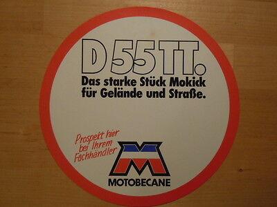 MOTOBECANE  Enduro Mokick D 55 TT 1979  PREISSCHILD  Werbeschild