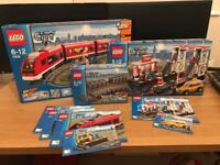 Lego City Train Set, Train Station & Extra Track