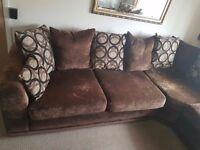 Corner suite sofa