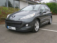 Peugeot 207 Sport SW 1.6 Diesel HDI 90 (bhp) 64 mpg New Engine 1,223 miles + New MOT Feb 2018 MOT
