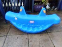 rocking blue whale little tikes