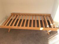 SINGLE BED - Spring fold legs