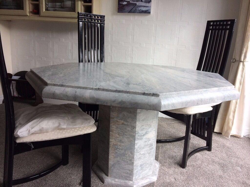 Octagonal Marble Dining Table REDUCED PRICE