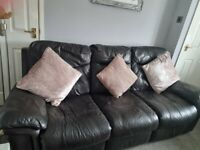 DFS leather recliner 3 seater sofa