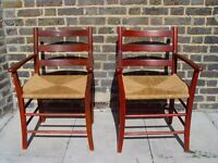 Two Dining Rope Chairs