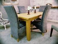 Harveys Solid Oak Extendable Dining Table & 6 Chairs