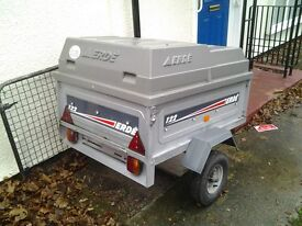 Trailer Erde 122 with ABS hard top and spare tyer