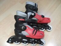 Monster Children's In-line Roller Skates, adjustable size 13-3