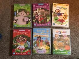 Six children's DVDs