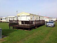 For Hire/Rent/To Let 8 Berth 3 Bedroomed Caravan at Chapel St Leonards Skegness (not Ingoldmells)