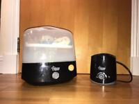 Electric sterilser with bottle warmer (both Tommee Tippee) and 4 Malm Bottles