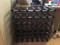Wood/metal wine rack