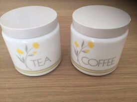 Ceramic Tea and Coffee Canisters only 25p each!