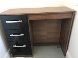 Brown and black dressing table