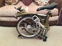Brompton Bike - S6LX Superlight Titanium