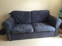 Sofa (has a fold out double bed in it) and chair or just sofa