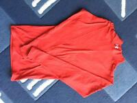 Red Under Armour cold gear top
