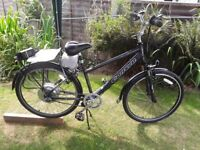 Adult Electric bike for sale ,with new battery fitted and can be rode as a normal push bike.