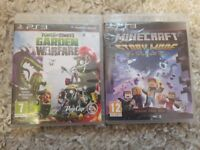 Ps3 plants vs zombies & minecraft story mode