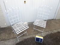 metal garden chairs, nice & freshly painted,
